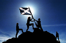 Raising the Saltire