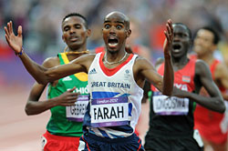 Farah Wins Gold